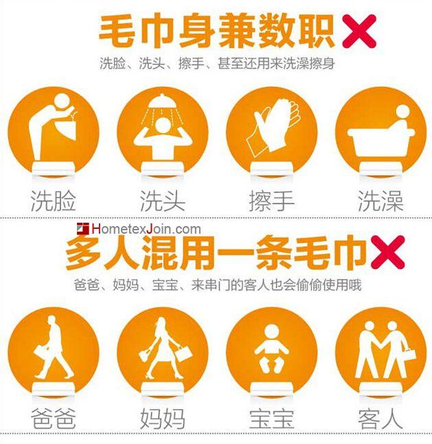 毛巾是我们每个人生活中必不可少的生活用品之一,你真的了解如何正确使用毛巾吗?中国家纺加盟网就用图片的方式教教你如何正确使用毛巾!