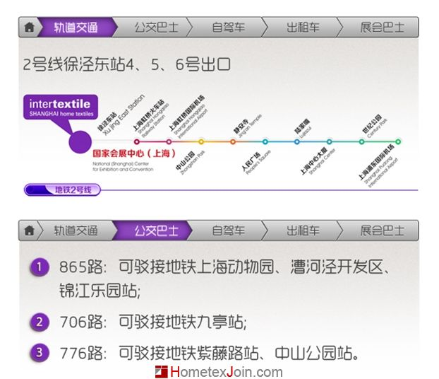 2015中国国际家纺展交通指南